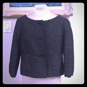 Black and white cropped jacket by The Limited
